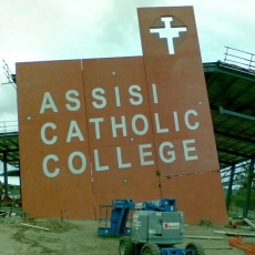 3D Lettering - Assisi College
